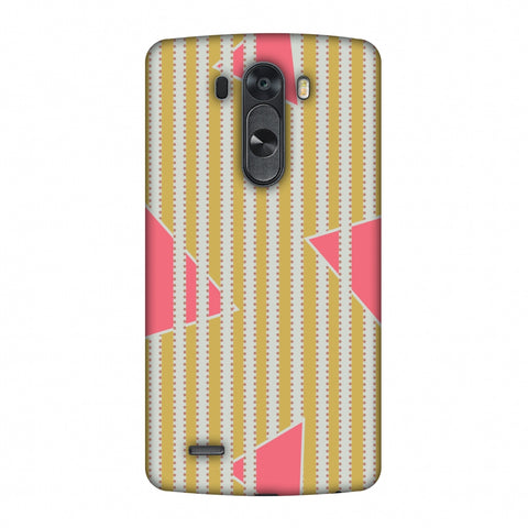 Stripes And Triangles - Mustard And Pink Slim Hard Shell Case For LG G4