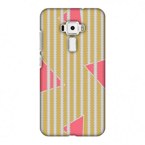 Stripes And Triangles - Mustard And Pink Slim Hard Shell Case For Asus Zenfone 3 ZE520KL