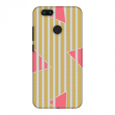 Stripes And Triangles - Mustard And Pink Slim Hard Shell Case For Xiaomi MI A1-5X