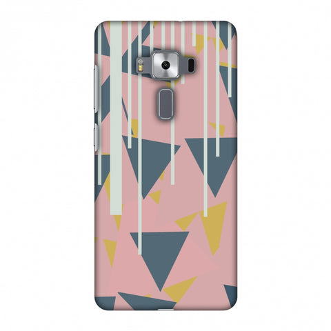 Vertical Stripes Cut - Pink And Steel Grey Slim Hard Shell Case For Asus Zenfone 3 Deluxe ZS570KL