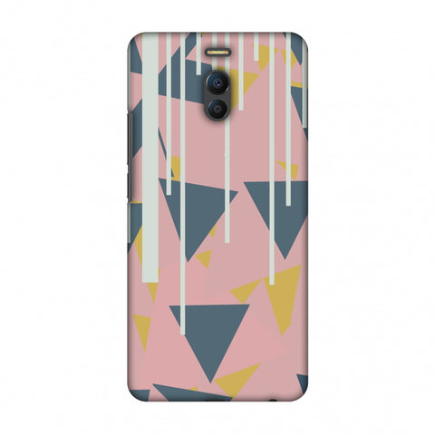 Vertical Stripes Cut - Pink And Steel Grey Slim Hard Shell Case For Meizu Note 6