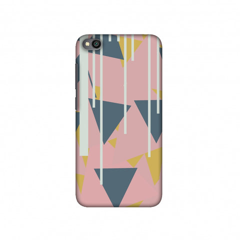 Vertical stripes cut- Pink and steel grey Slim Hard Shell Case For Redmi Go