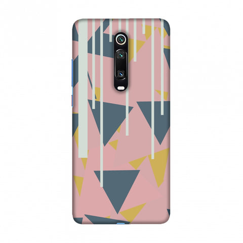 Vertical stripes cut- Pink and steel grey Slim Hard Shell Case For Redmi K20/K20 Pro