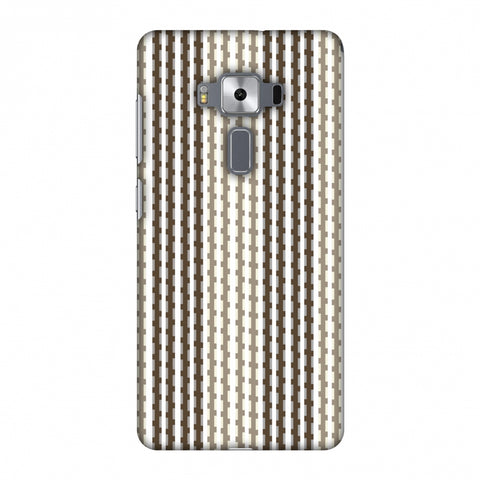 Patterned Stripes - Beige And Brown Slim Hard Shell Case For Asus Zenfone 3 Deluxe ZS570KL