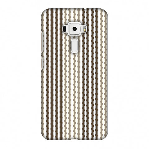 Patterned Stripes - Beige And Brown Slim Hard Shell Case For Asus Zenfone 3 ZE520KL
