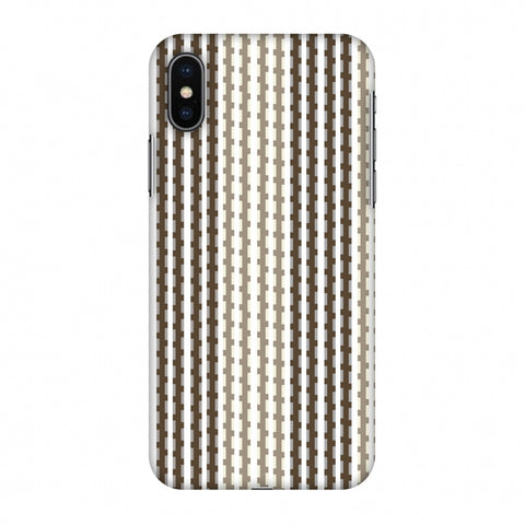 Patterned Stripes - Beige And Brown Slim Hard Shell Case For Apple iPhone X