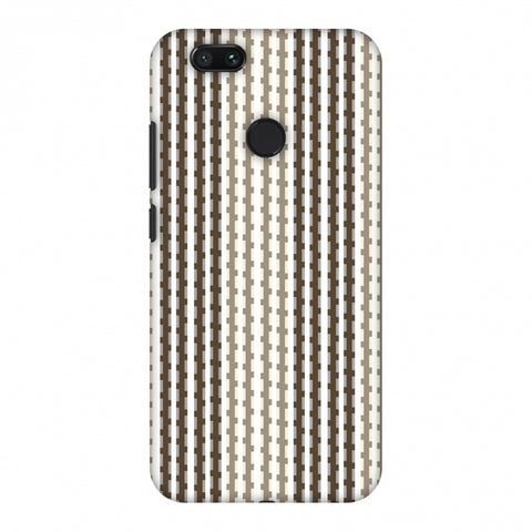 Patterned Stripes - Beige And Brown Slim Hard Shell Case For Xiaomi MI A1-5X