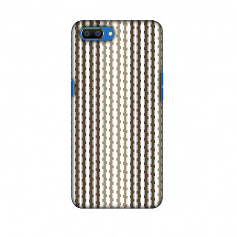 Patterned Stripes - Beige And Brown Slim Hard Shell Case For Oppo Realme C1
