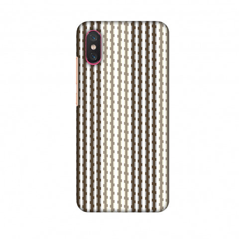 Patterned Stripes - Beige And Brown Slim Hard Shell Case For Xiaomi Mi 8 Pro