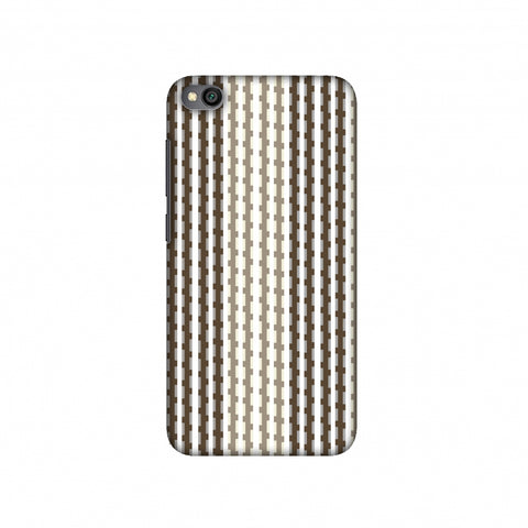 Patterned stripes- Beige and brown Slim Hard Shell Case For Redmi Go