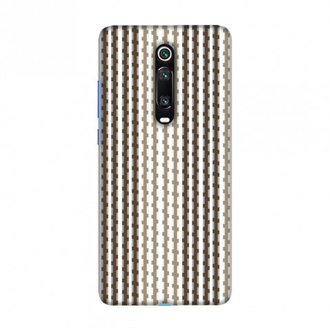 Patterned stripes- Beige and brown Slim Hard Shell Case For Redmi K20/K20 Pro
