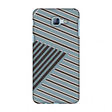 Zig Zag Stripes - Steel Grey And Brown Slim Hard Shell Case For Samsung Galaxy A8 2016