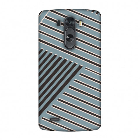 Zig Zag Stripes - Steel Grey And Brown Slim Hard Shell Case For LG G4