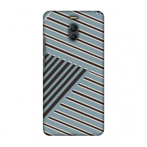 Zig Zag Stripes - Steel Grey And Brown Slim Hard Shell Case For Meizu Note 6