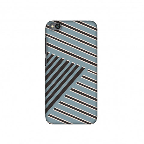 Zig Zag stripes- Steel grey and brown Slim Hard Shell Case For Redmi Go