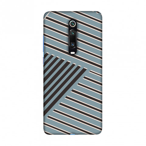 Zig Zag stripes- Steel grey and brown Slim Hard Shell Case For Redmi K20/K20 Pro