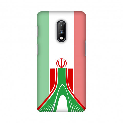 Azadi Monument- Iran flag Slim Hard Shell Case For OnePlus 7