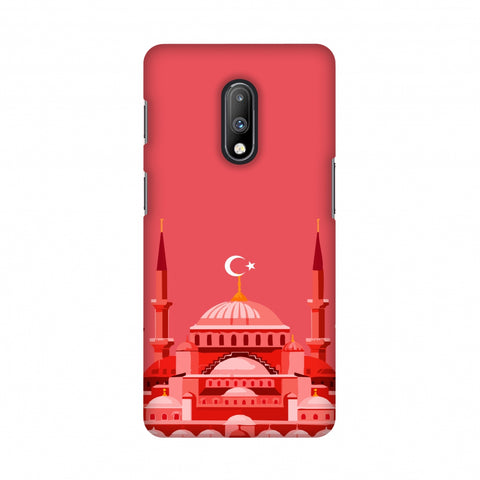 Blue mosque- Turkey flag Slim Hard Shell Case For OnePlus 7