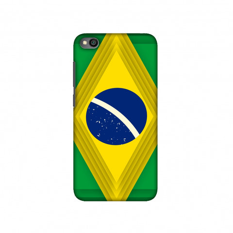 Brazil flag- Ombre shapes Slim Hard Shell Case For Redmi Go