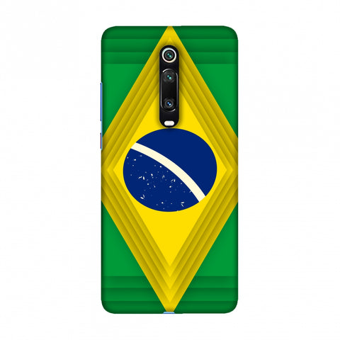 Brazil flag- Ombre shapes Slim Hard Shell Case For Redmi K20/K20 Pro