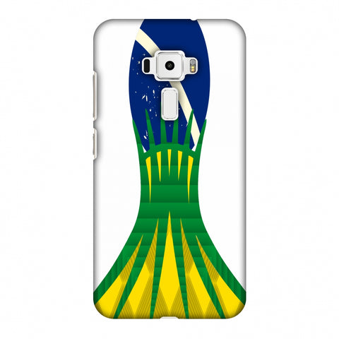 Cathedral Of Brasilia - Brazil Flag Slim Hard Shell Case For Asus Zenfone 3 ZE520KL