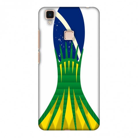 Cathedral Of Brasilia - Brazil Flag Slim Hard Shell Case For Vivo V3 Max