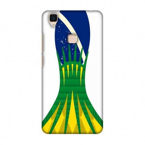Cathedral Of Brasilia - Brazil Flag Slim Hard Shell Case For Vivo V3