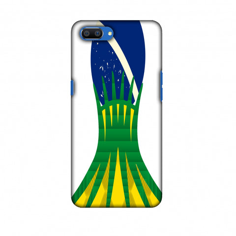 Cathedral Of Brasilia - Brazil Flag Slim Hard Shell Case For Oppo Realme C1
