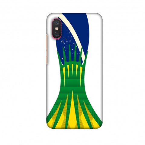 Cathedral Of Brasilia - Brazil Flag Slim Hard Shell Case For Xiaomi Mi 8 Pro