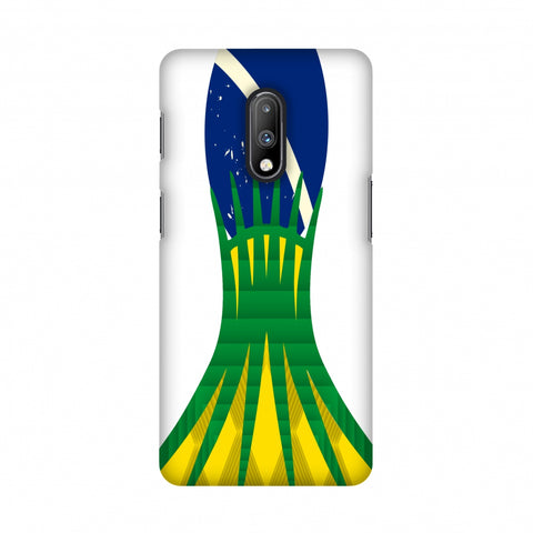 Cathedral of brasilia- Brazil flag Slim Hard Shell Case For OnePlus 7
