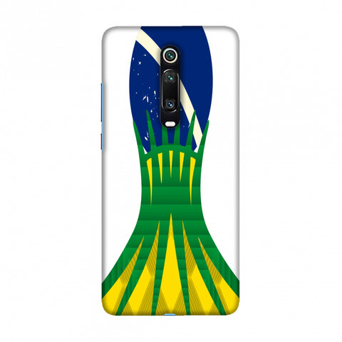 Cathedral of brasilia- Brazil flag Slim Hard Shell Case For Redmi K20/K20 Pro