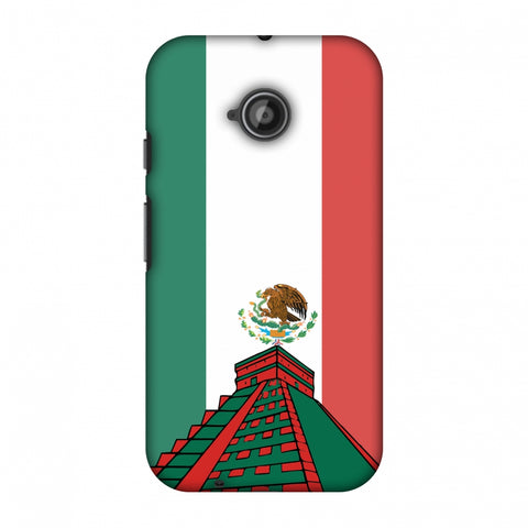 Chichen Itza - Mexico Flag Slim Hard Shell Case For Motorola Moto E 2nd Gen