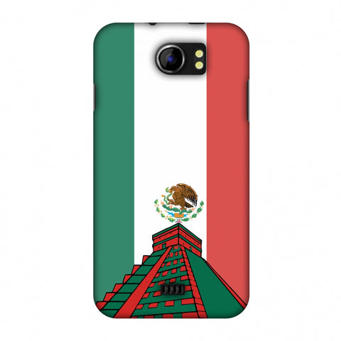 Chichen Itza - Mexico Flag Slim Hard Shell Case For Micromax Canvas 2 A110
