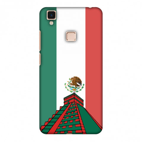 Chichen Itza - Mexico Flag Slim Hard Shell Case For Vivo V3 Max