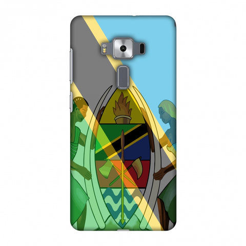 Coat Of Arms - Tanzania Flag Slim Hard Shell Case For Asus Zenfone 3 Deluxe ZS570KL