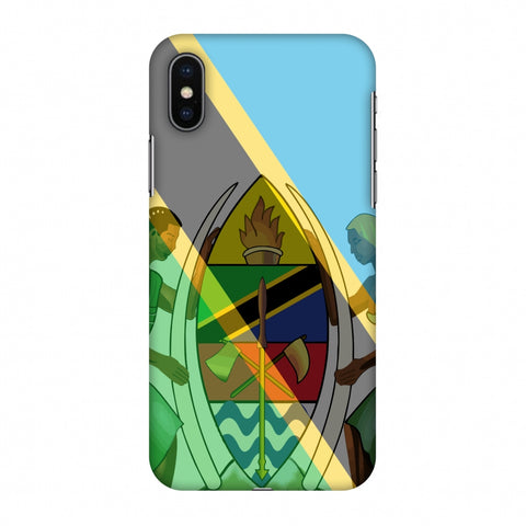 Coat Of Arms - Tanzania Flag Slim Hard Shell Case For Apple iPhone X
