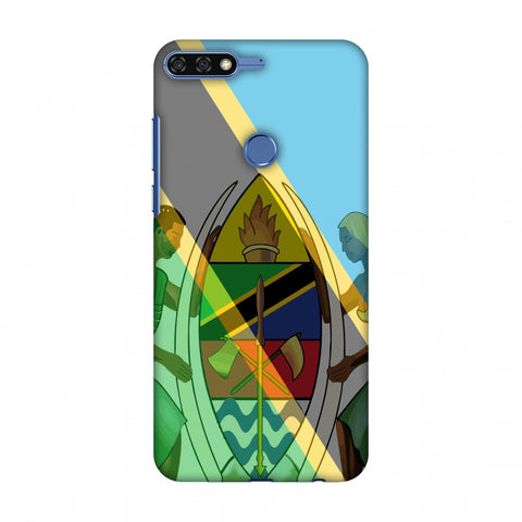 Coat Of Arms - Tanzania Flag Slim Hard Shell Case For Huawei Honor 7C