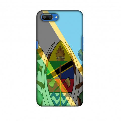 Coat Of Arms - Tanzania Flag Slim Hard Shell Case For Oppo Realme C1