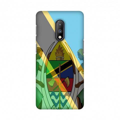 Coat of arms- Tanzania flag Slim Hard Shell Case For OnePlus 7