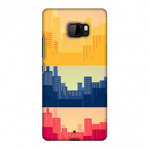 Colombia Flag - Cityscape Slim Hard Shell Case For HTC U Ultra