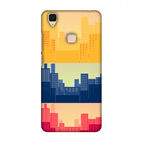 Colombia Flag - Cityscape Slim Hard Shell Case For Vivo V3