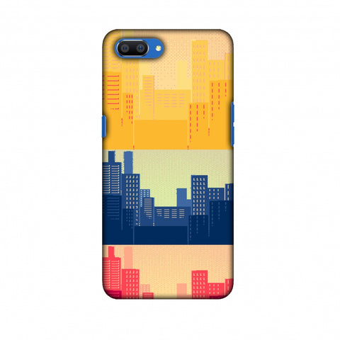 Colombia Flag - Cityscape Slim Hard Shell Case For Oppo Realme C1
