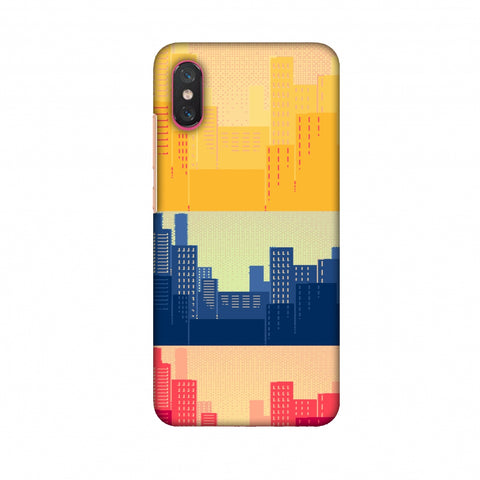 Colombia Flag - Cityscape Slim Hard Shell Case For Xiaomi Mi 8 Pro
