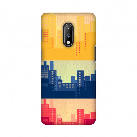 Colombia flag- Cityscape Slim Hard Shell Case For OnePlus 7