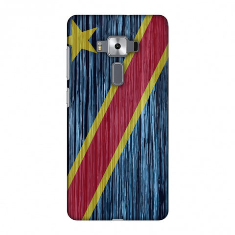 Dr Congo Flag - Textures Slim Hard Shell Case For Asus Zenfone 3 Deluxe ZS570KL
