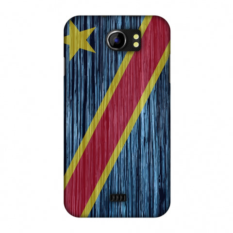 Dr Congo Flag - Textures Slim Hard Shell Case For Micromax Canvas 2 A110