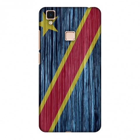 Dr Congo Flag - Textures Slim Hard Shell Case For Vivo V3 Max