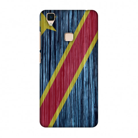 Dr Congo Flag - Textures Slim Hard Shell Case For Vivo V3