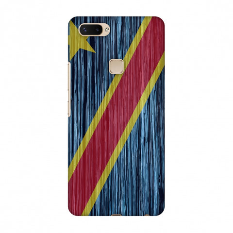 Dr Congo Flag - Textures Slim Hard Shell Case For Vivo X20 Plus