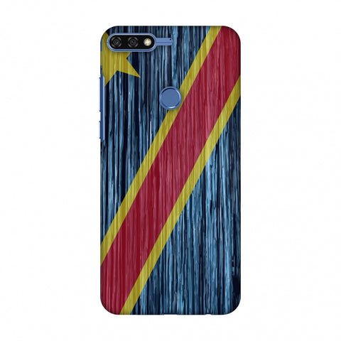 Dr Congo Flag - Textures Slim Hard Shell Case For Huawei Honor 7C